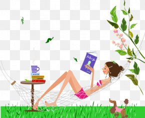 Women Resort Living Creative Cartoon - Hammock Royalty-free Clip Art PNG