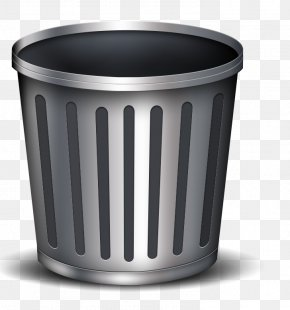 Metal Trash Can - Waste Container Recycling Icon PNG