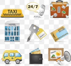 Hotels Element Vector - Taxi Hotel Icon Design Icon PNG