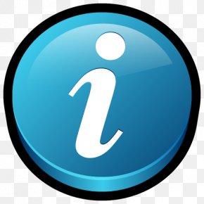 Get Info - Computer Icon Trademark Symbol Aqua PNG