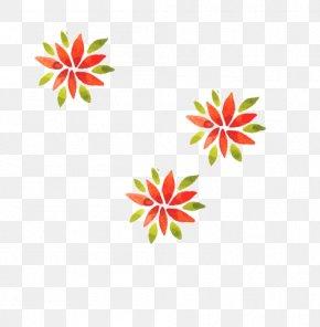 Watercolor Christmas Plant - Petal Textile Area Pattern PNG