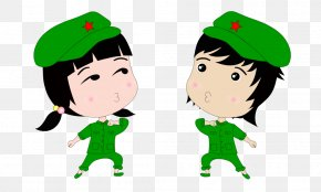 Small Youth Men And Women - Comics Cartoon Youth Day (in China) Drawing PNG