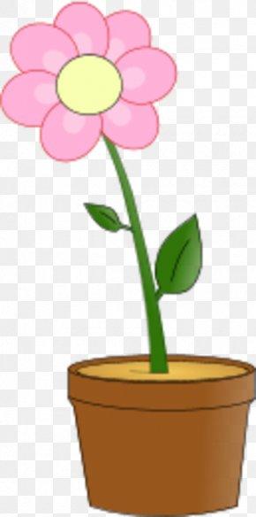 Flower Pot Clipart - Flowerpot Pink Flowers Clip Art PNG