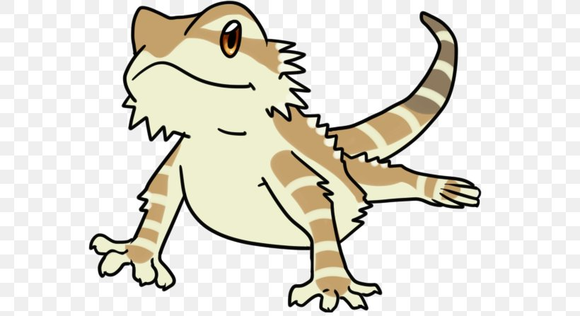 Lizard Bearded Dragon Drawing Reptile Clip Art Png 569x447px