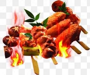 BBQ Chicken Wings HD Clips - Barbecue Chicken Yakitori Chuan Kebab PNG