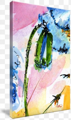 Poppy Watercolor Painting - Watercolor Painting Acrylic Paint Art PNG