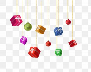 Hanging Different Angles Gift Box - Gift Christmas Gratis Box PNG