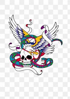 Skull - Printed T-shirt Hoodie Tattoo PNG