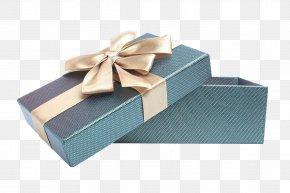 High Grade Blue Gift Box - Box Gift Ribbon PNG