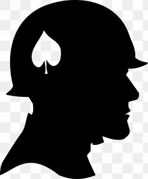 Silhouette Soldier - Soldier Silhouette Army Clip Art PNG
