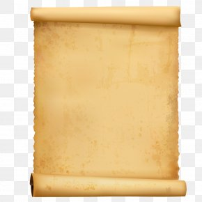 Pale Yellow Hair Old Sheepskin Rolls - Paper Scroll Computer File PNG