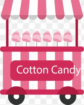 Pink Striped Cotton Candy Car - Cotton Candy Pink Clip Art PNG