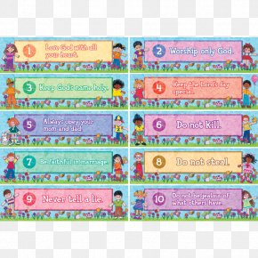 Child - Ten Commandments Banner Child Fruit Of The Holy Spirit Bulletin Board PNG