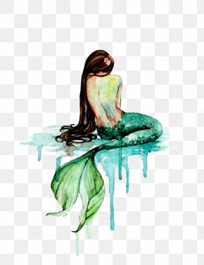 Mermaid - Mermaid Watercolor Painting Art PNG