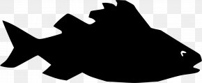 Silhouette - Silhouette Fish Clip Art PNG