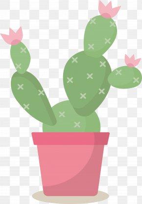 Pink Flowerpot Cactus - Cactaceae Flowerpot Euclidean Vector PNG