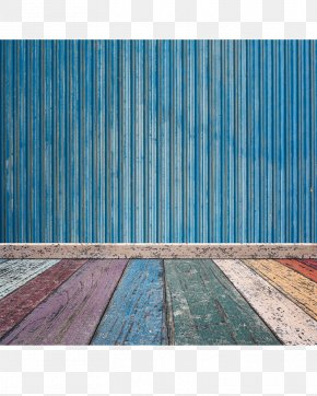 Colorful Wooden Floor Blue Wooden Wall - Wall Wood Paper Floor Brick PNG