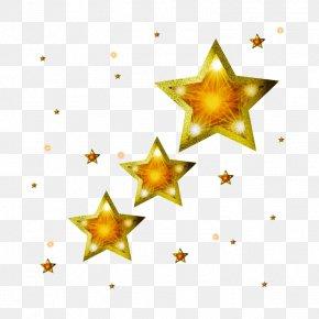 Golden Star Decoration - Star Of Bethlehem Gold Clip Art PNG