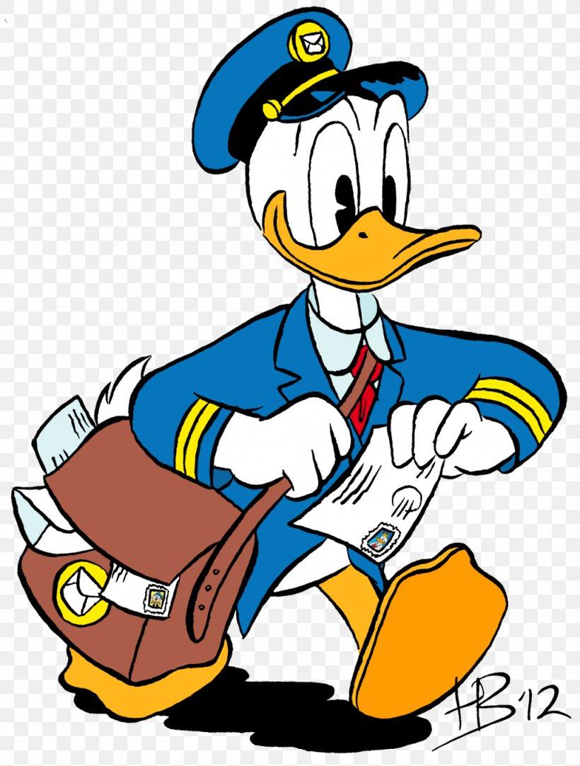 Donald Duck Mickey Mouse Mail Carrier Clip Art, PNG, 1024x1352px, Donald Duck, Art, Artwork, Beak, Bird Download Free