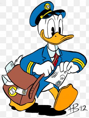 Donald Duck - Donald Duck Mickey Mouse Mail Carrier Clip Art PNG