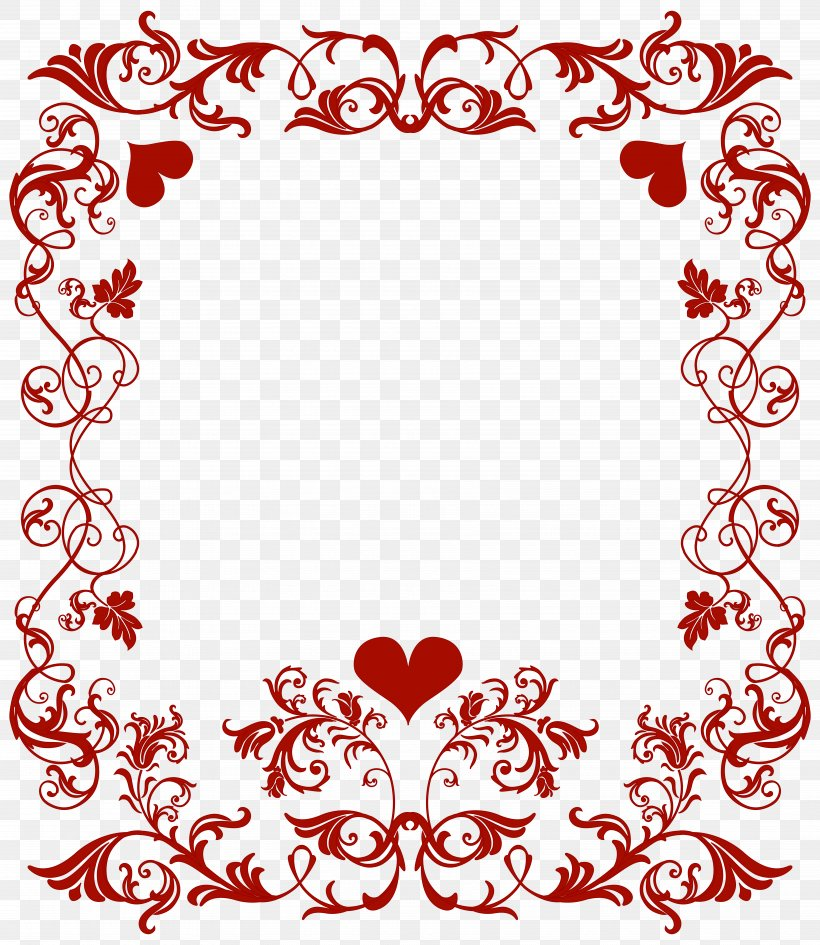 Valentine's Day Heart Clip Art, PNG, 6936x8000px, Valentine S Day, Area, Blog, Border, Clip Art Download Free