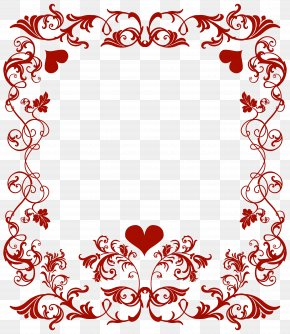 Valentine's Day Decorative Border Transparent PNG Clip Art Image - Valentine's Day Heart Clip Art PNG