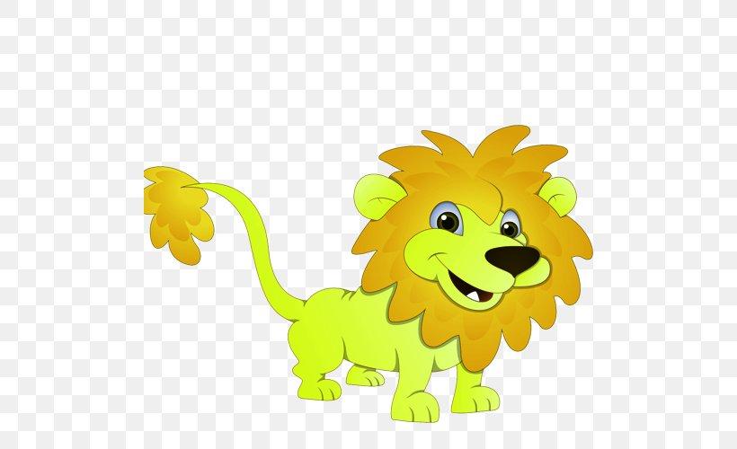 Lion Giraffe Tiger Cartoon, PNG, 500x500px, Lion, Animal, Art, Big Cats, Carnivoran Download Free