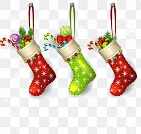 Christmas Stocking - Christmas Ornament Santa Claus Clip Art PNG