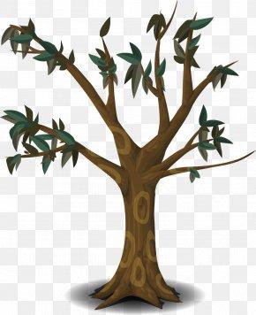Cartoon Tree - Tree Branch Clip Art PNG