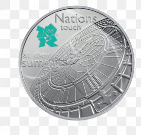 Silver Jubille Celebration - Big Ben Coin 2012 Summer Olympics Fifty Pence Two Pounds PNG