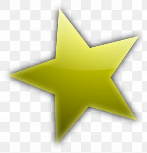 Gold Five-pointed Star - Star Cartoon Shape Clip Art PNG
