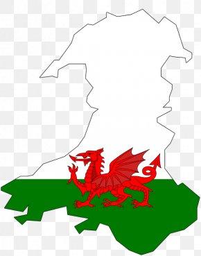 Flag - Flag Of Wales Welsh Dragon National Symbols Of Wales PNG