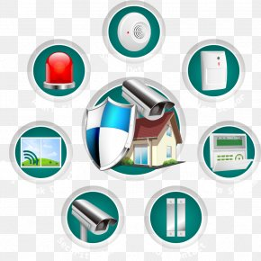Vector Material Security - Security Alarm Closed-circuit Television Home Security Access Control PNG