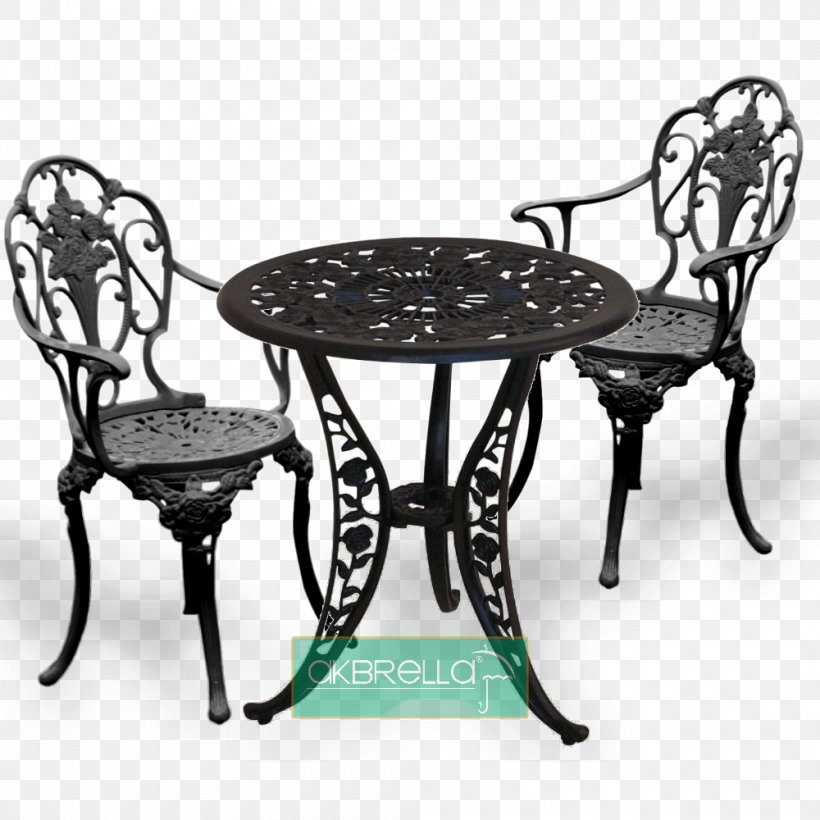 Table Chair Cast Iron Aluminium Png