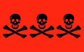 Red Flag Images - Jolly Roger Flag Piracy Decal Clip Art PNG