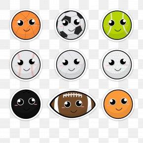 Lovely Smiling Ball Vector - Ball Game Sport Football PNG