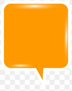 Bubble Speech Orange Clip Art Image - Orange Speech Clip Art PNG