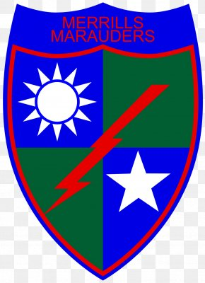 United States - Merrill's Marauders United States Department Of War Blue Sky With A White Sun 75th Ranger Regiment PNG