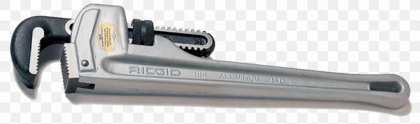 Pipe Wrench Ridgid Hand Tool, PNG, 980x290px, Pipe Wrench, Adjustable Spanner, Aluminium, Automotive Exterior, Forging Download Free