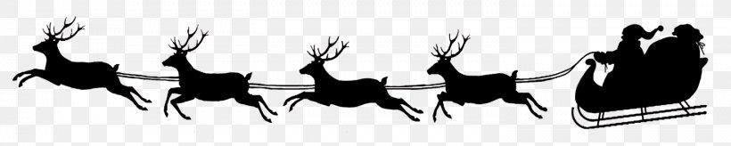 Santa Claus's Reindeer Santa Claus's Reindeer NORAD Tracks Santa Clip Art, PNG, 1476x296px, Santa Claus, Black, Black And White, Christmas, Christmas Tree Download Free