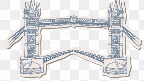 Hand-painted London Bridge - London Drawing Fotosearch Clip Art PNG