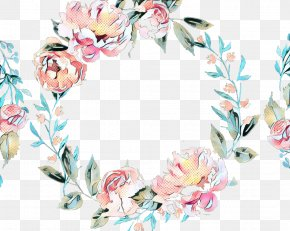 Interior Design Picture Frame - Watercolor Floral Frame PNG