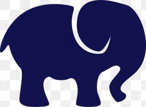 Elephant Clip Art - Blue Clip Art PNG
