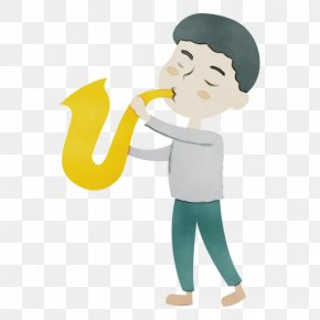 Musical Instrument Bugle - Cartoon Wind Instrument Bugle Musical Instrument PNG