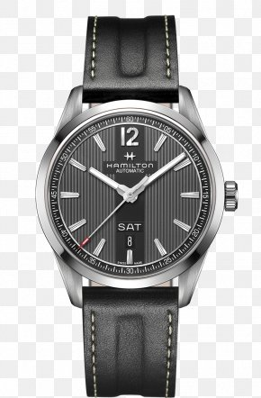 Black Grey Mens Watch Hamilton Watch Watch - Hamilton Watch Company Hamilton Watch Company Watch Strap PNG