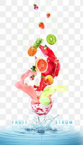 Fruit Ice Cream - Ice Cream Juice Fruit PNG