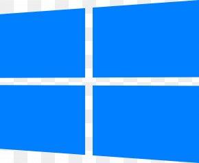 Windows Logos - Electric Blue Cobalt Blue Aqua Rectangle PNG
