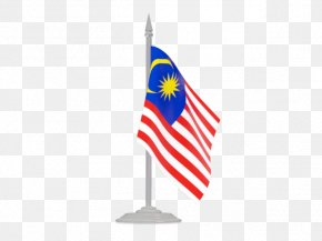 Flag With Flagpole Malaysia - Flag Of The United States Flag Of Liberia PNG