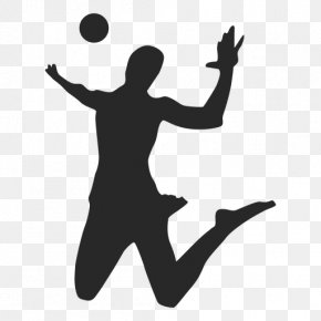 Volleyball Clip Art Spiking - Silhouette Volleyball Player Clip Art PNG