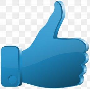 Thumbs Up Blue Transparent Clip Art Image - Thumb Signal Clip Art PNG